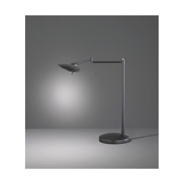 Veioză LED Trio Kazan, înălțime 46 cm, negru