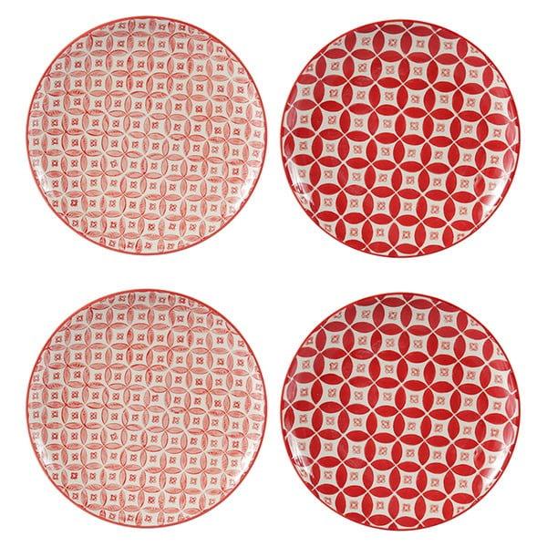 Sada 4 porcelánových talířů Rubis, 20.5 cm