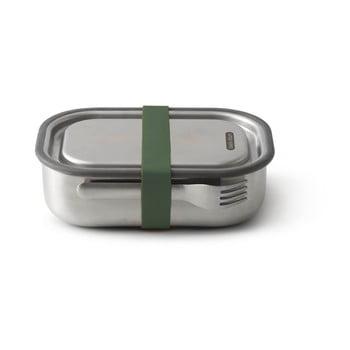 Cutie din oțel inoxidabil pentru gustări și curea verde Black + Blum, 1000 ml