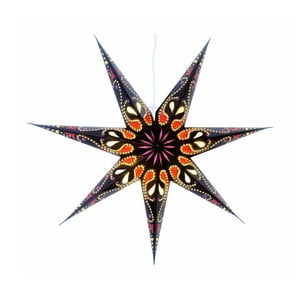 Závěsná svítící hvězda Siri Black, 70 cm