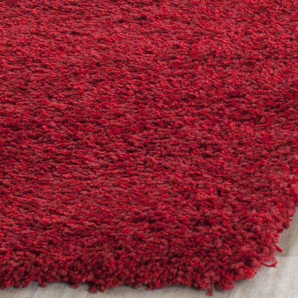 Koberec Safavieh Crosby Shag, 121x182 cm, červený