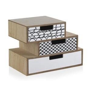 Cutie depozitare cu 3 sertare Geese Munich, lungime 25 cm