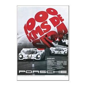 Plakát Porsche 1000 km Spa 1971, 70x50 cm