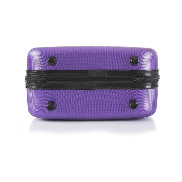 Fialový cestovní kufr s příručním zavazadlem Bluestar