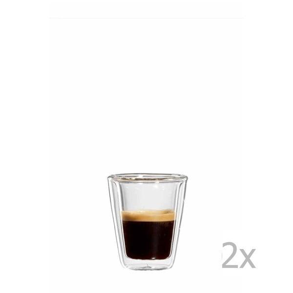 Sada 2 skleněných hrnků na espresso bloomix Milano