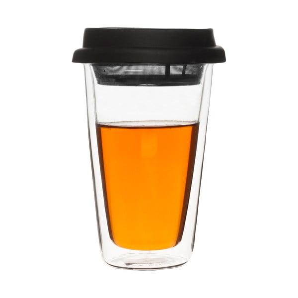 Dvojstěnný termošálek s čajovým sítkem Clear