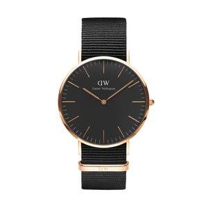 Černé unisex hodinky DanielWellingtonConrwallRose, ⌀40mm