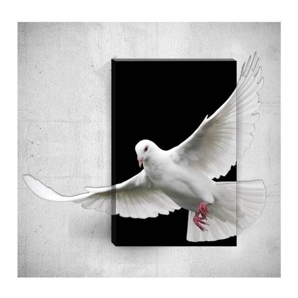 Nástěnný 3D obraz Mosticx Dove, 40 x 60 cm