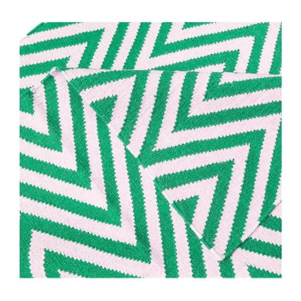 Vlněný koberec Zig Zag Green, 180x120 cm