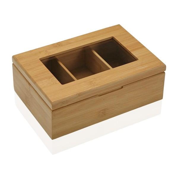 Bambusová dóza na čaj Versa Bambú, 23 × 16 cm