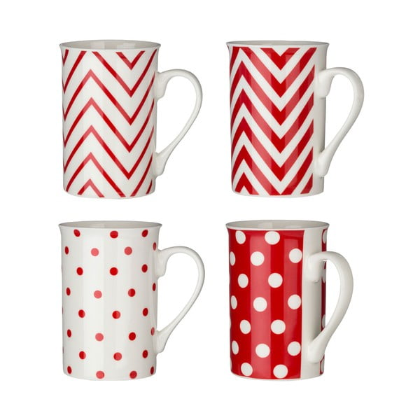 Sada hrníčků Premier Housewares Chevron 270ml, 4ks