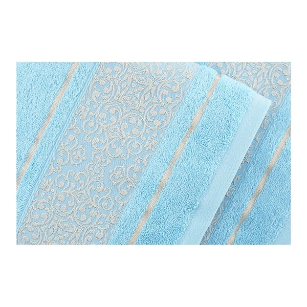 Sada 2 modrých ručníků Fance, 50x90cm