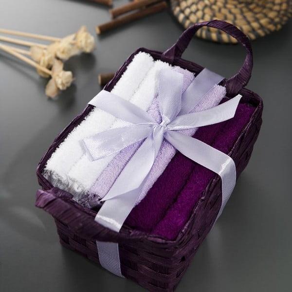 Sada 6 ručníků Hill Purple, 30x30 cm