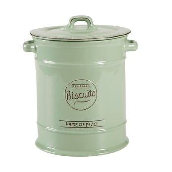 Doză ceramică pentru biscuți T&G Woodware Pride of Place, verde