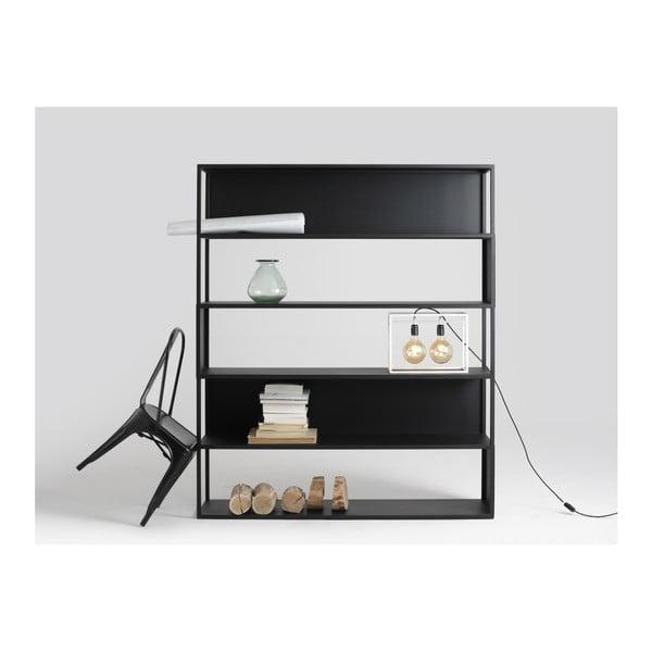 Bibliotecă Custom Form Hyllermetal, 150 x 180 cm, negru