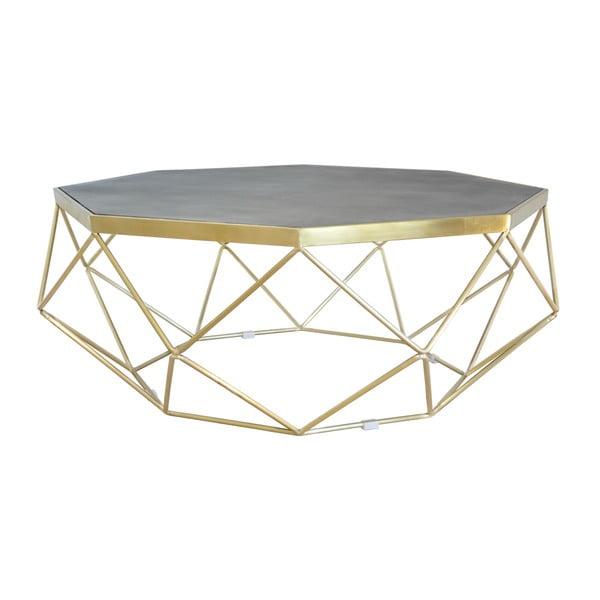 Konferenční stolek s podnožím ve zlaté barvě Livin Hill Glamour, ⌀106cm