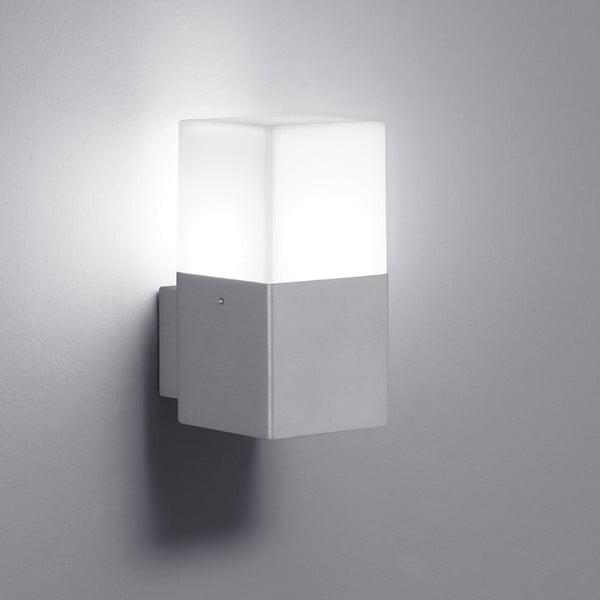 Světle šedé venkovní nástěnné svítidlo Trio Hudson, výška17 cm