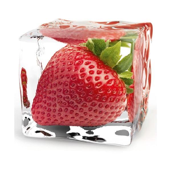 Skleněný obraz Iced Strawberry, 20x20 cm