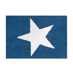 Koberec Estela 160x120 cm, sytě modrý
