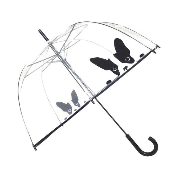 Transparentní holový deštník Ambiance Birdcage Dog, ⌀84cm