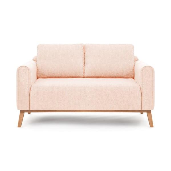 Canapea pentru 2 persoane Vivonita Milton, roz deschis