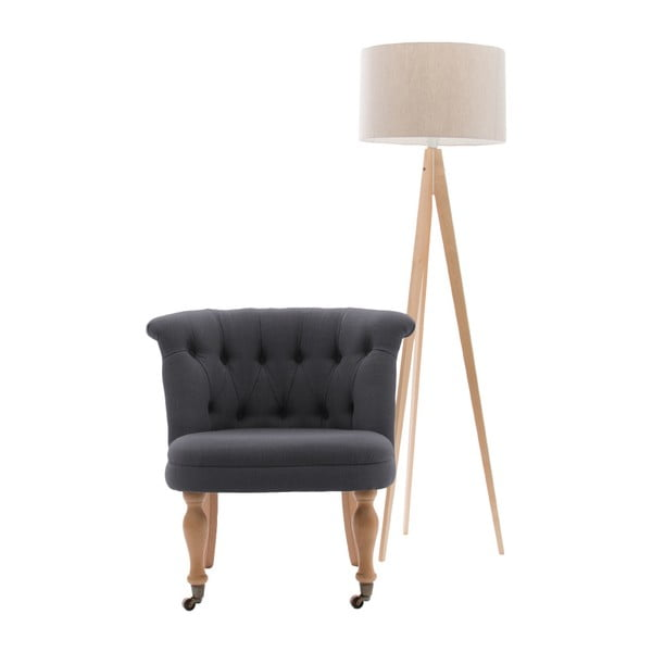 Antracitově šedá židle s kolečky Vivonita Maggi