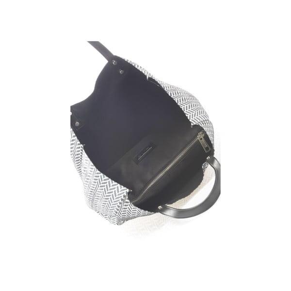 Oboustranná kožená kabelka Krole Korrine, černá