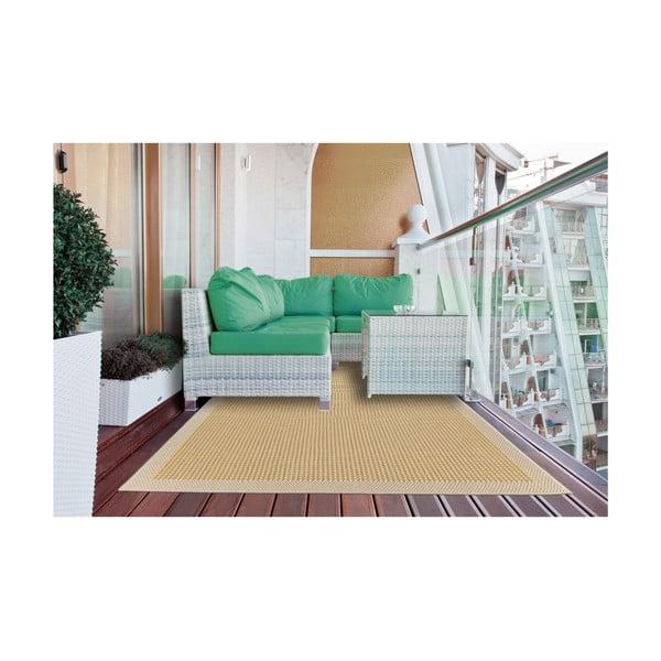 Žlutý vysoce odolný koberec vhodný i do exteriéru Webtappeti Chrome,135x190cm