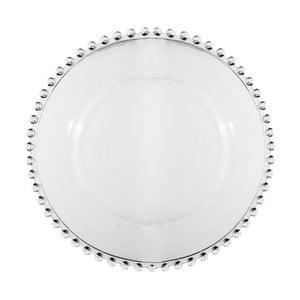 Skleněná dezertní talíř Côté Table Pearloa, ⌀20,5cm