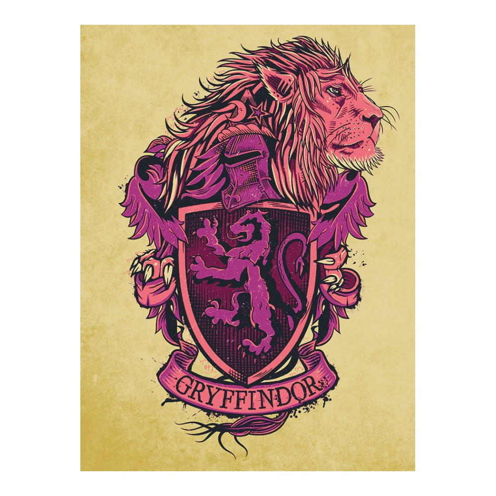 Obraz Pyramid International Harry Potter Gryffindor Crest, 60 x 80 cm