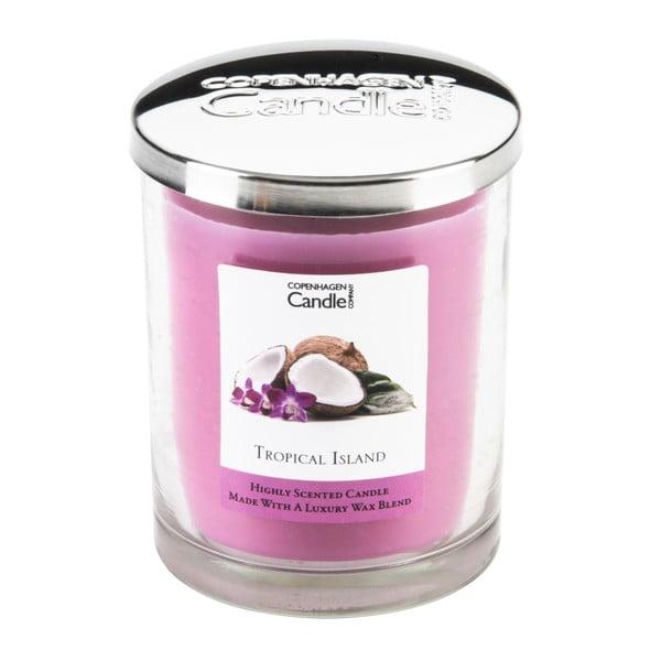 Aroma svíčka s vůní tropického ovoce Copenhagen Candles Tropical Island,doba hoření 40 hodin