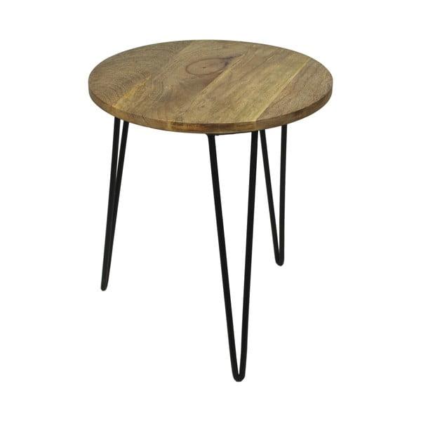 Stolik z drewna mangowego HSM Collection Sana, ⌀ 40 cm