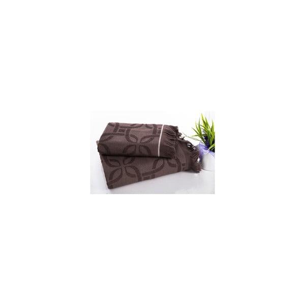 Sada 2 hamam osušek Istanbul Brown, 50x90 a 70x150 cm