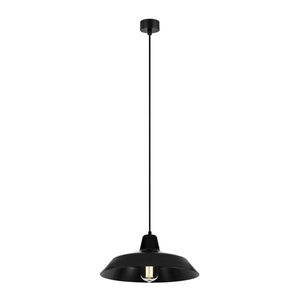 Czarna lampa wisząca Bulb Attack Cinco, ∅ 35 cm