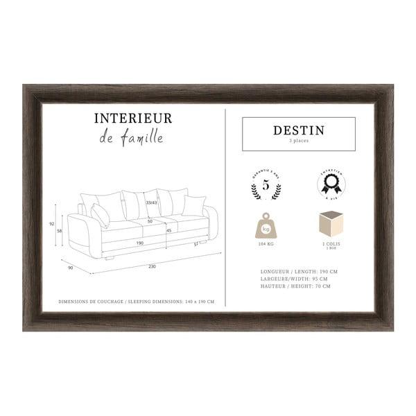 Červená třímístná pohovka INTERIEUR DE FAMILLE PARIS Destin