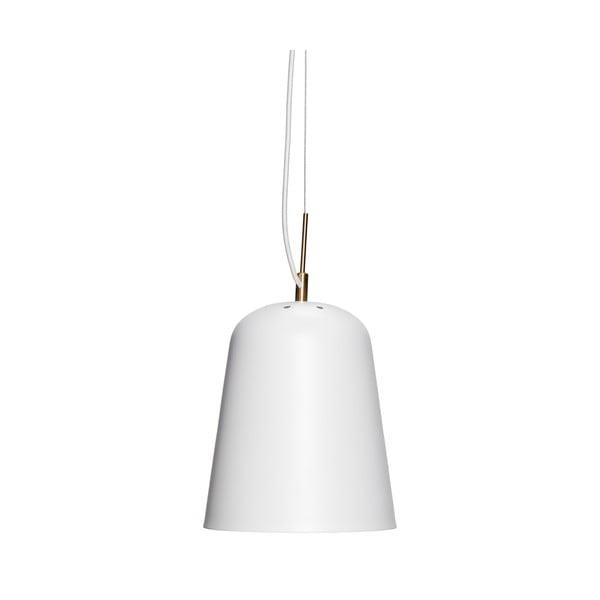 Bílé závěsné železné svítidlo Hübsch Carismo