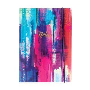 Zápisník A5 Portico Designs Inky Spash, 160stránek