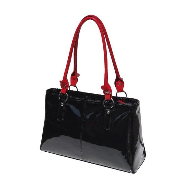 Kožená kabelka Boscollo Red and Black 2758