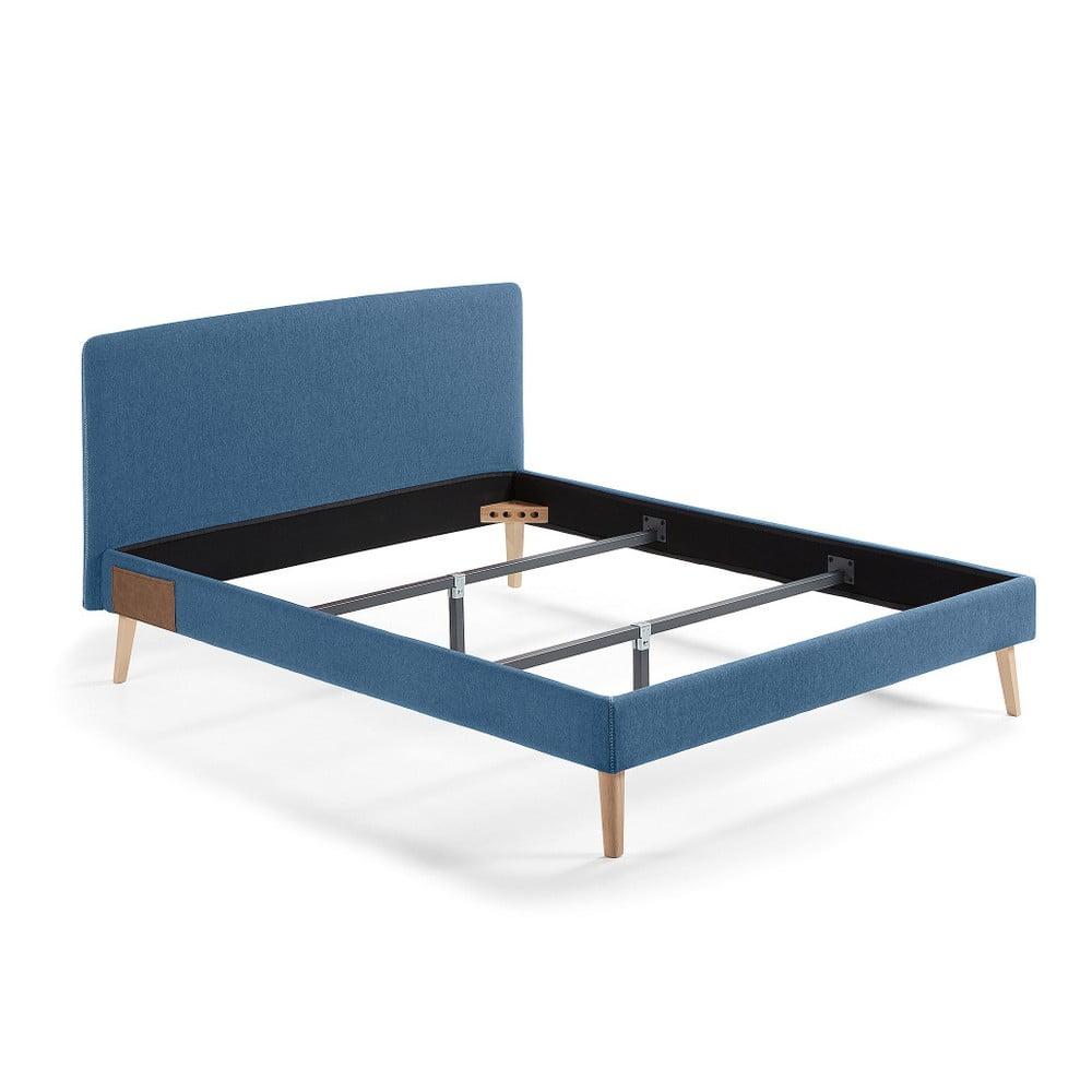 Tmavě modrá dvoulůžková postel La Forma Lydia, 200x160cm