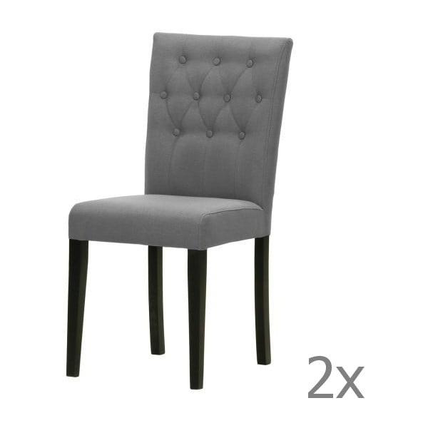 Sada 2 židlí Monako Etna Dark Grey, černé nohy