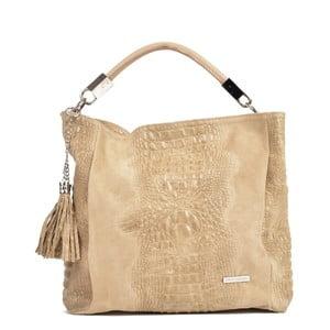 Hnědobéžová kožená kabelka Sofia Cardoni Manu