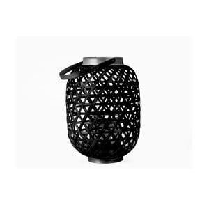 Černá lucerna Present Time Lattice, výška27cm