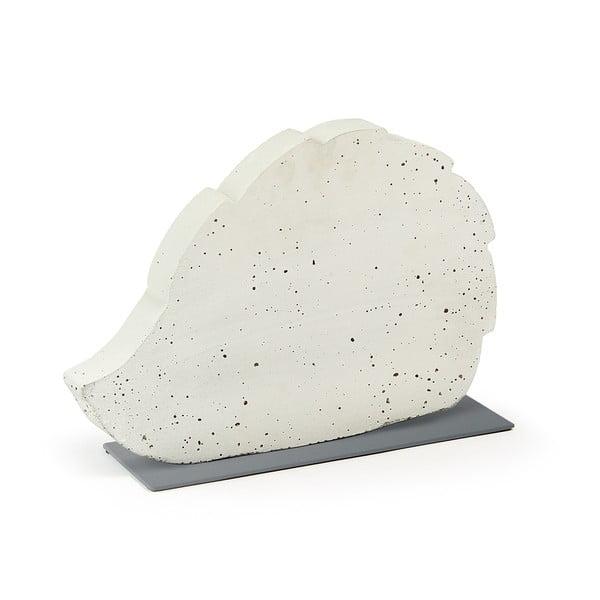 Sense Hedgehog fehér cementezett dekoráció, 37 x 25 cm - La Forma