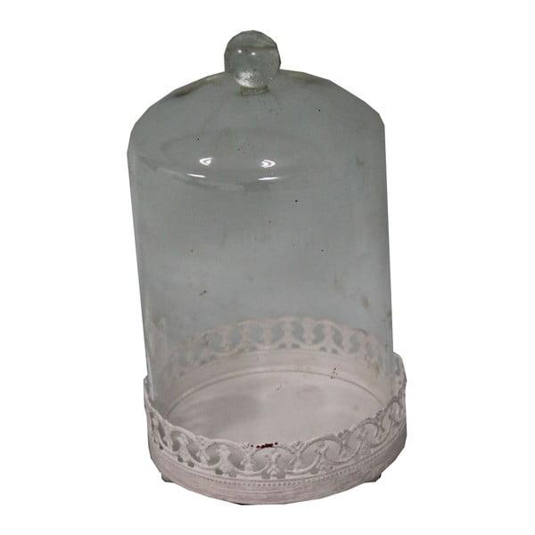 Podnos so skleneným poklopom Antic Line Bell, 18x10,5cm