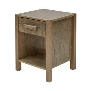 Tmavý noční stolek z masivního dřeva Woodman Woody