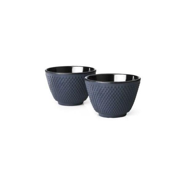 Sada 2 modrýchlitinových hrnečků na čaj Bredemeijer Xilin, ⌀ 7,8 cm