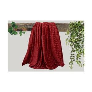 Červená deka Dolce Bonita Embos, 200 x 135 cm