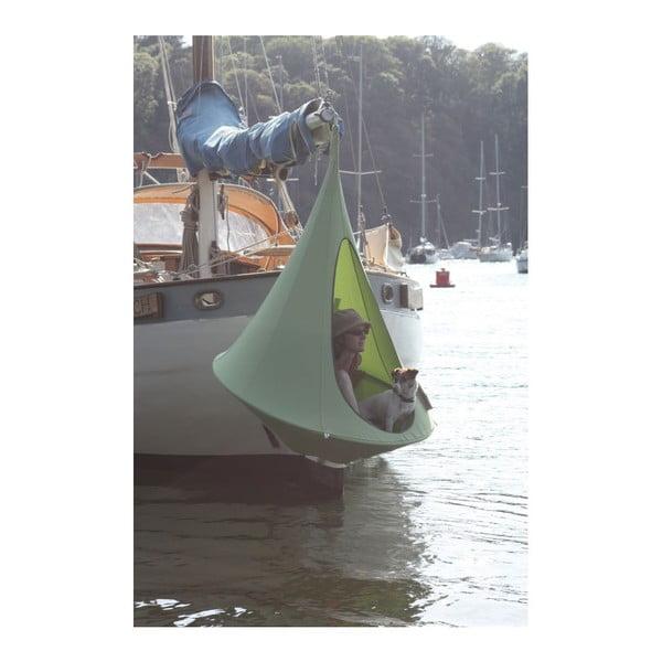 Zelené závěsné křeslo pro jednoho Cacoon Single