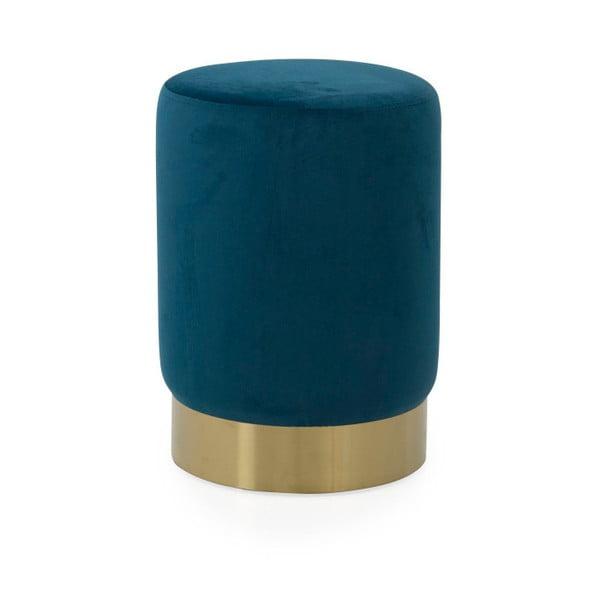 Niebieski puf Tenzo Hanna, ø 33 cm