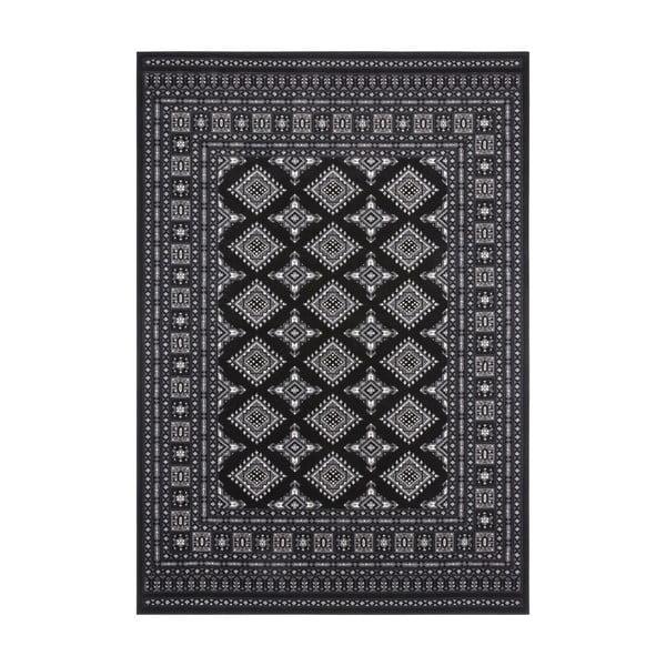 Czarny dywan Nouristan Sao Buchara, 160x230 cm